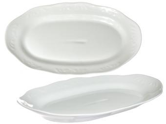 Блюдо для хлеба форма Надежда 27см Белое изделие