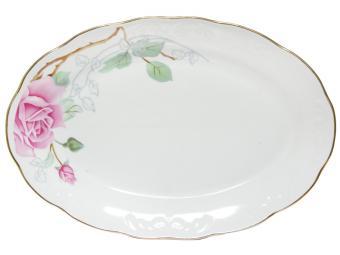 Блюдо овальное Надежда 31,5см Розовая нежность