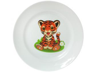 Тарелка 200мм мелкая ф.Идиллия Полосатики тигрята