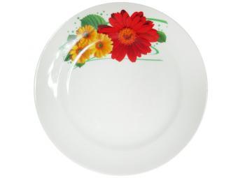 Тарелка мелкая Идиллия 170 мм Праздничная гербера