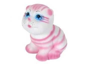 Копилка Котик розовый флок