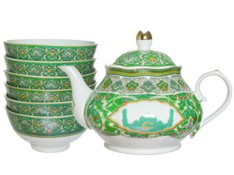 Чайный набор Мусульманский с пиалами 7пр (58533)