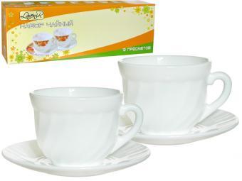 Чайный набор стеклокерамика Белый 12пр HWB-190