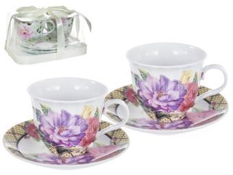 Чайный набор 4пр Корзина цветов 124-01053