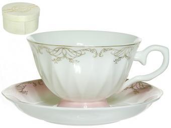 Чайная пара 250мл Симфония розовая