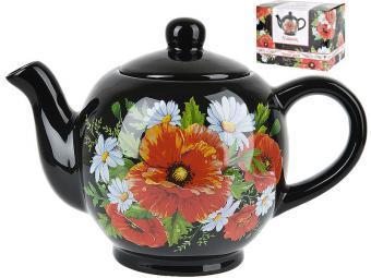 Чайник керамический 1л Маков цвет