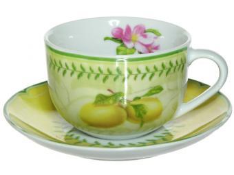 Чайная пара 220мл Французский сад