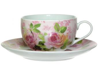 Чайная пара 250мл Роза