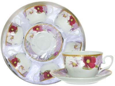 Чайный набор 12пр в круглой коробке (64886)