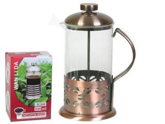 Кофе-пресс 350 мл дизайн медь