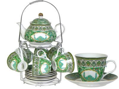 Чайный набор с чайником на метал подставке S03R-ZSV02