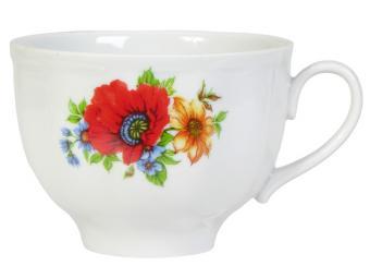 Чашка чайная 275мл Полевой мак ф.Гранатовый