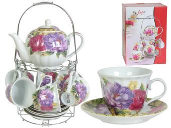Чайный набор с чайником на метал подставке CM-F13MS-025