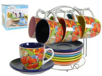 Чайный сервиз 12пр ''Цветочный'' на м/подст. (51929)