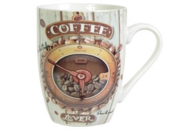 Кружка 340мл бочка Время кофе