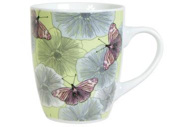 Кружка 340мл бочка Бабочки