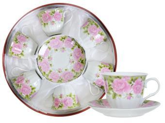 Чайный набор 12 пр в круглой коробке С03-871