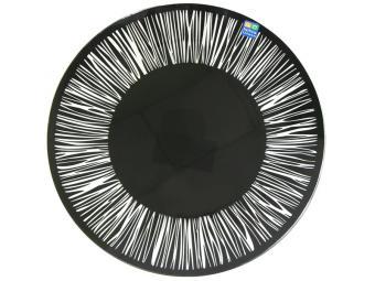 Тарелка ''Витас'' прозрачная черная 26см