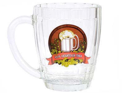 Кружка пивная 500мл Клуб любителей пива Опытный стекольный завод