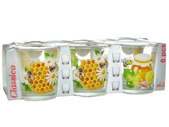 Набор стаканов ''Мед'' 6шт 250мл низкие стаканы
