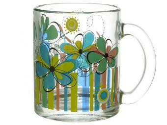 Кружка ''Чайная'' Радужные цветы 320мл