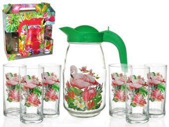 Набор для воды 7пр Фламинго в тропиках