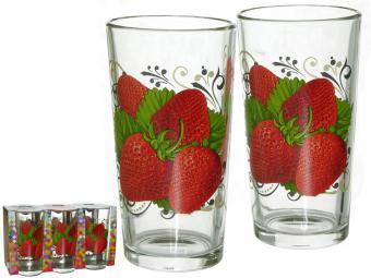Набор стаканов 6пр 250мл Ягода Клубника