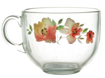 Кружка ''Кинг Сайз'' Акварельные цветы 500мл