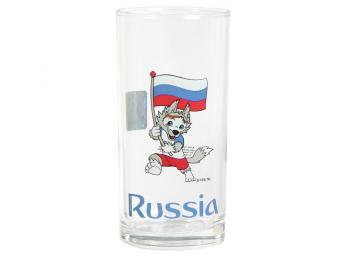 Стакан 270мл высокий «Гео» «Забивака Флаг» Россия