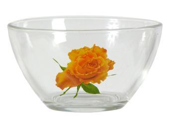 Салатник Гладкий Роза желтая 200мл