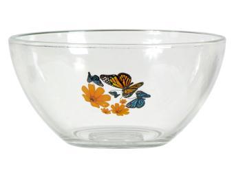 Салатник Гладкий Бабочки и оранжевые цветы 850мл