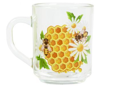 Кружка ''Gren tea'' Мёд 200мл Опытный стекольный завод
