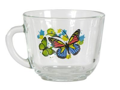 Кружка ''Гламур'' Танец бабочек 200мл Опытный стекольный завод 1337
