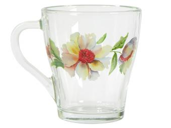 Кружка Грация Акварельные цветы 250мл