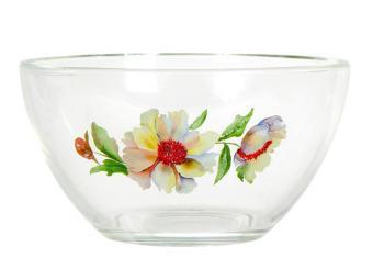 Салатник ''Гладкий'' (Акварельные цветы) 13см 11532