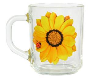 Кружка ''Gren tea'' Божья коровка на желтом цветке 200мл