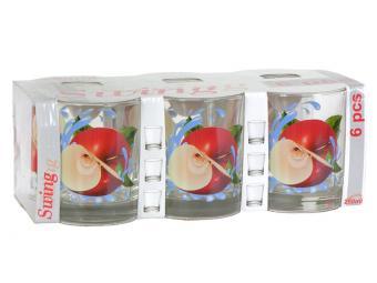Набор стаканов Яблоко красное 6шт 250мл