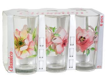 Набор стаканов ''Акварельные цветы'' 6шт 230мл