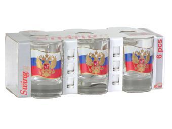 Набор стаканов 50мл Флаг 6шт