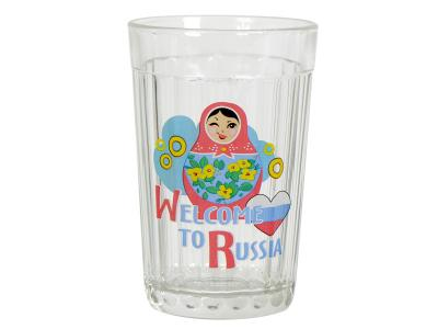Стакан Граненый Вэлкам ту Раша 250мл Опытный стекольный завод