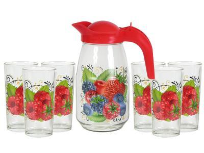 Набор для воды Ягодный фреш кувшин и 6 стаканов