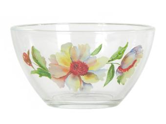 Салатник ''Гладкий'' (Акварельные цветы) 11см 11946