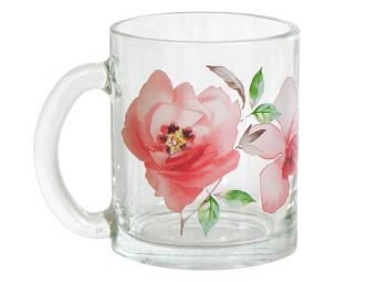 Кружка ''Чайная'' Акварельные цветы 320мл