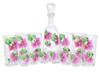 Набор Графин, 6 стаканов и 6 стопок Огонёк