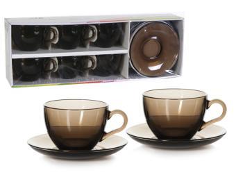 Чайный набор Basic на 6 персон дымчатый