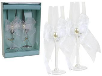 Набор фужеров 2шт Свадьба KW-5 стекло