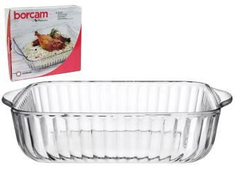 Форма для выпечки стеклянная рефленая 3,2л Borcam
