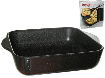 Форма стеклянная для выпечки квадратная с ручками 1,95 л ''Borcam NON STICK''