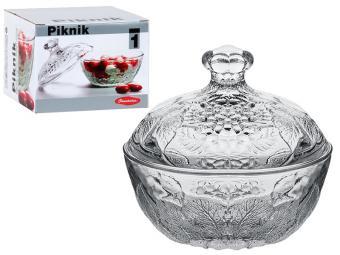 Сахарница стеклянная Piknik 130 мм