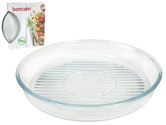 Форма стеклянная с рифленым дном круглая 2,95л Borcam Grill